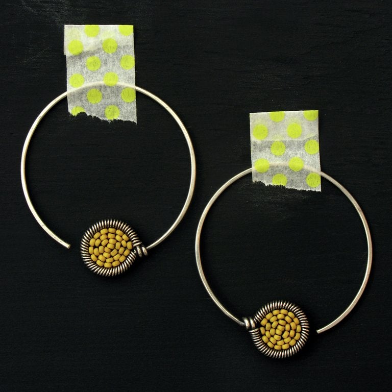 Image of Small dot Hoops - 32 Colors Available