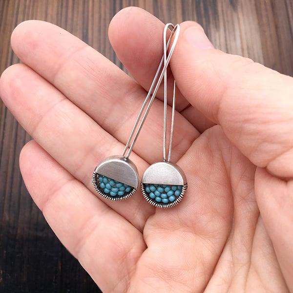 Image of Long dot Earrings