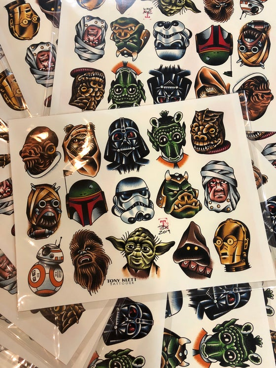 Image of Star Wars Flash Sheet