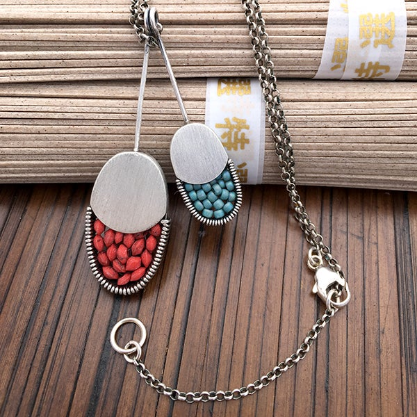 Image of 2 Oval Pendant