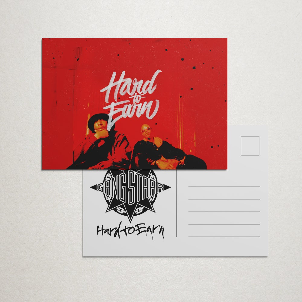 "Image of Gang Starr ""Hard To Earn"" 4x6"" Postcard"