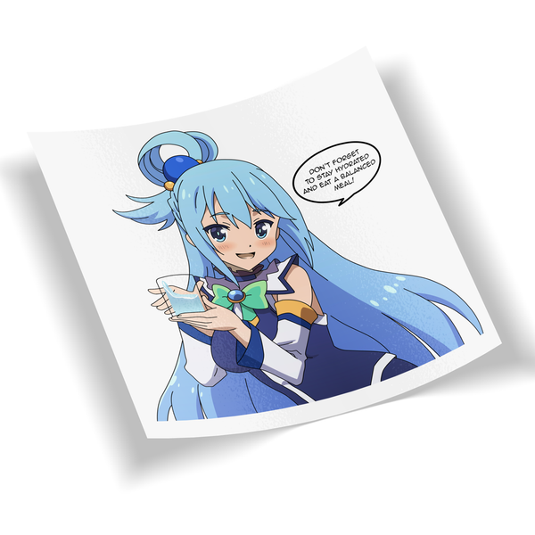 "Image of ""Stay Hydrated!"" Aqua Digi-Cut (2 Sizes to Pick)"