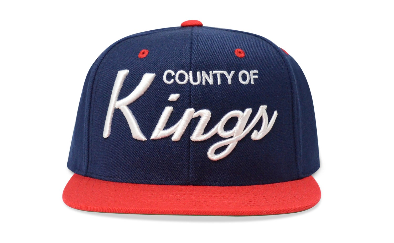 Image of COUNTY OF KINGS (NAVY BLUE/WHITE/RED) - SNAPBACK