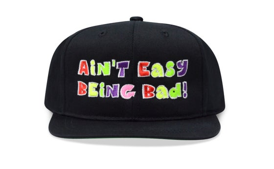 Image of AIN'T EASY BEING BAD! (BLACK) - KIDS SNAPBACK