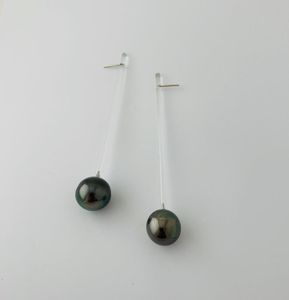 Image of Tahitian Pearl Earrings