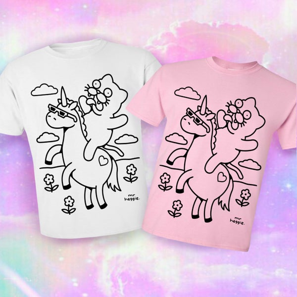 Image of The cat and unicorn shirt