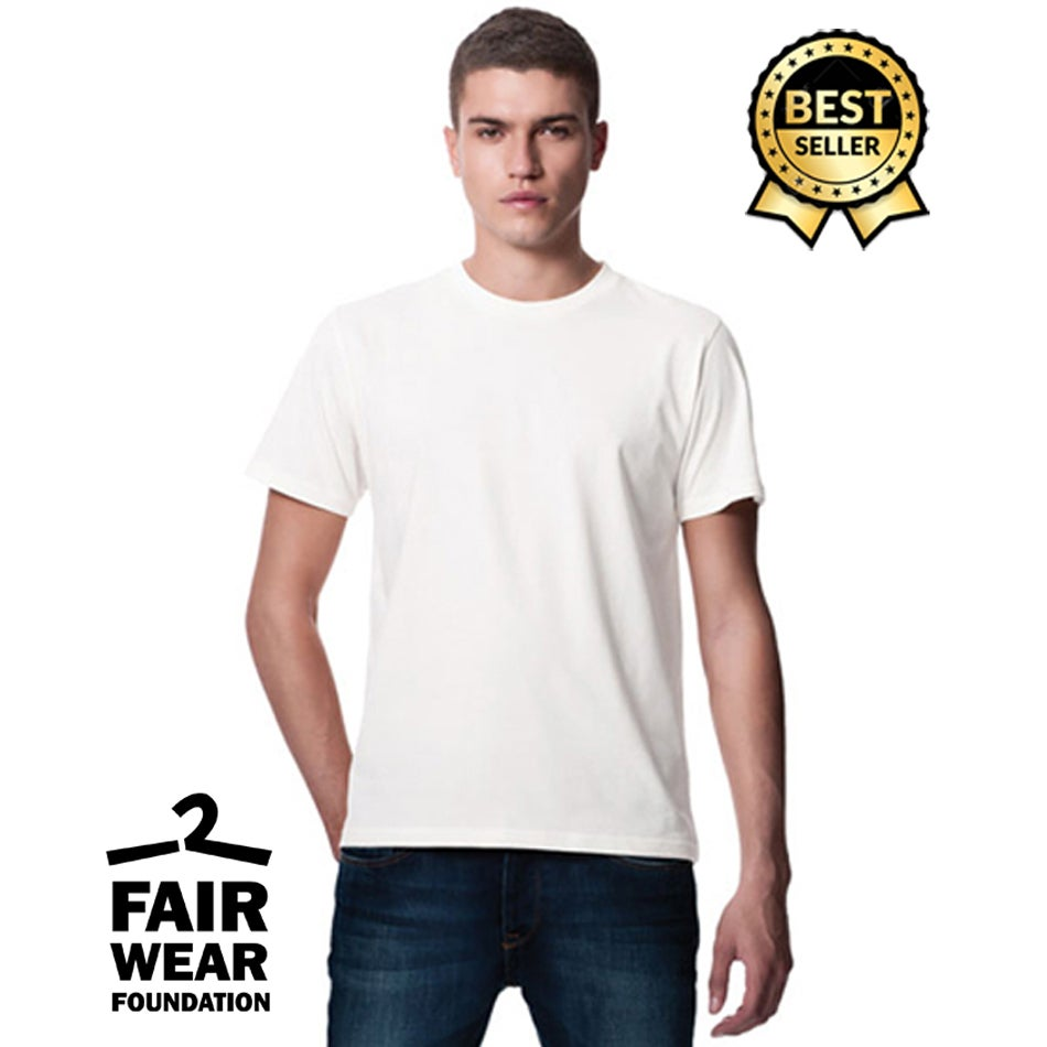 Image of Stampa 1 colore su 25 T-shirt White - Continental Clothing
