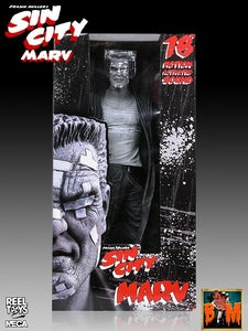 """Image of Neca Sin City Marv 18"""" Motion Activated figure Black and White Exclusive"""