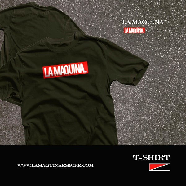 "Image of Classic LaMaquina ""Stamp"" Tee (Black/Red/White)"