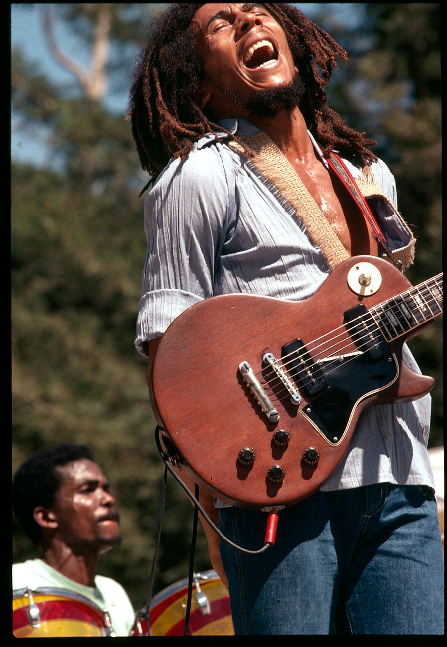 Image of Bob Marley at Santa Barbra Bowl 1976