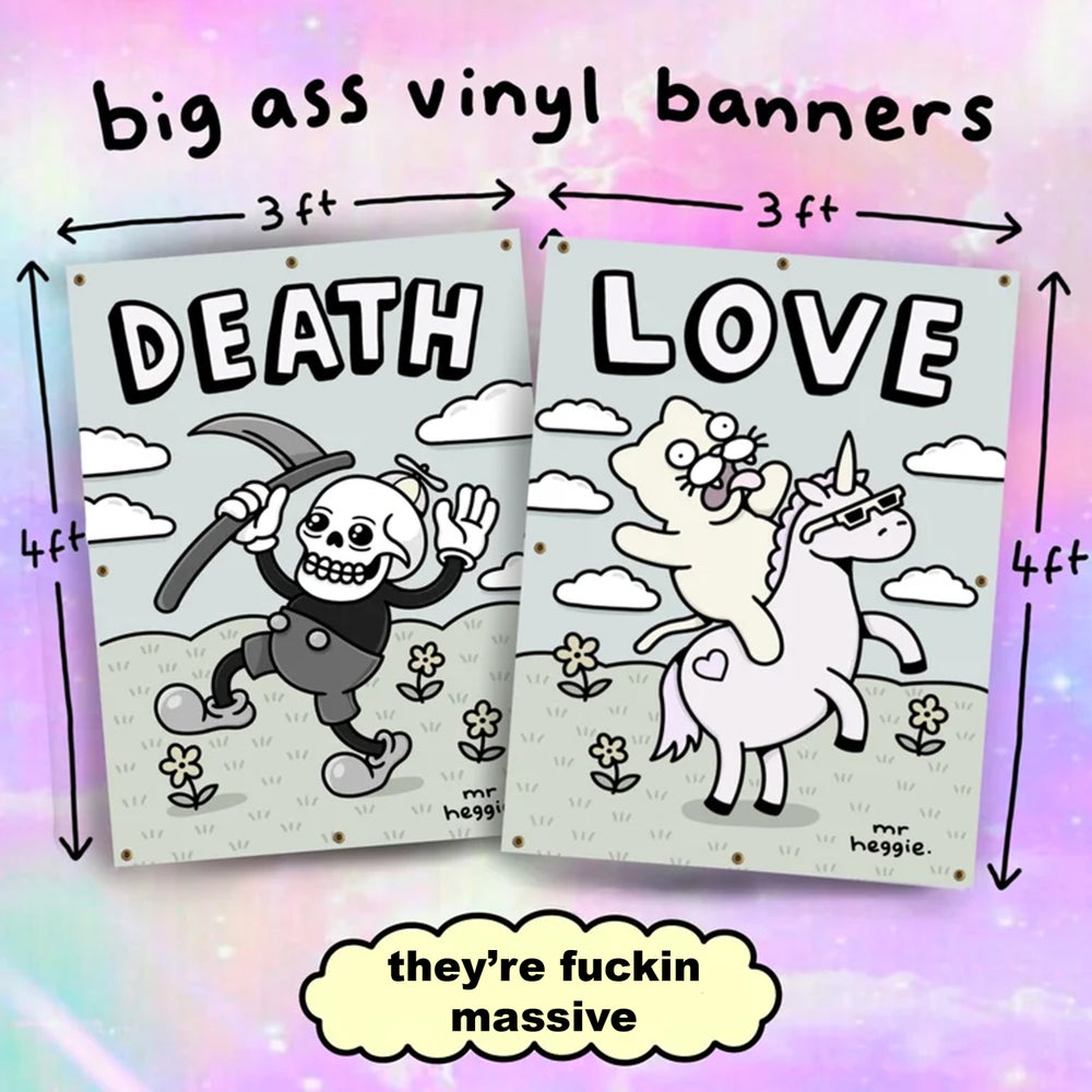 Image of The big ass vinyl banners