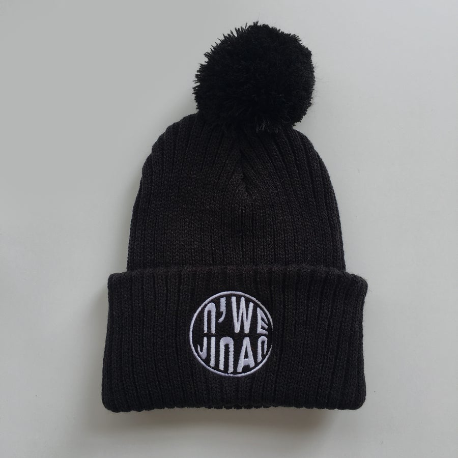 Image of Toque with Pom Pom // Black
