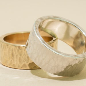 Image of 8mm HAMMERED Band