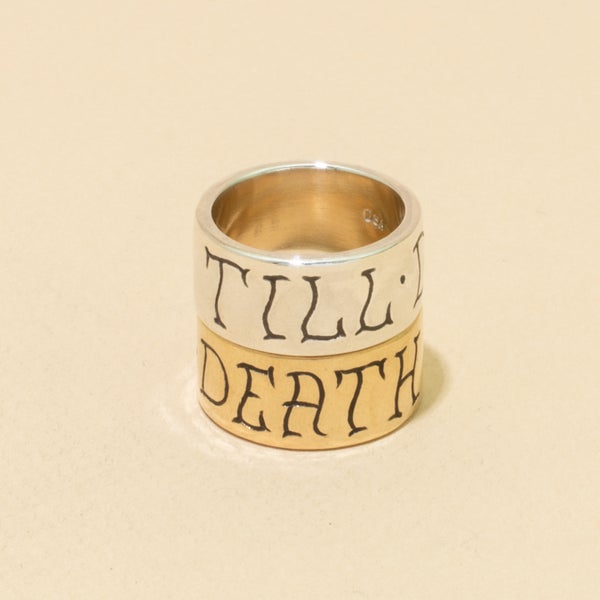 Image of Cigar Band TILL-DEATH Engraved Band