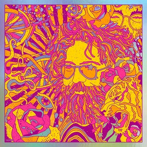 Image of Jerry Garcia Bicycle Day 2019 - Rainbow Foil