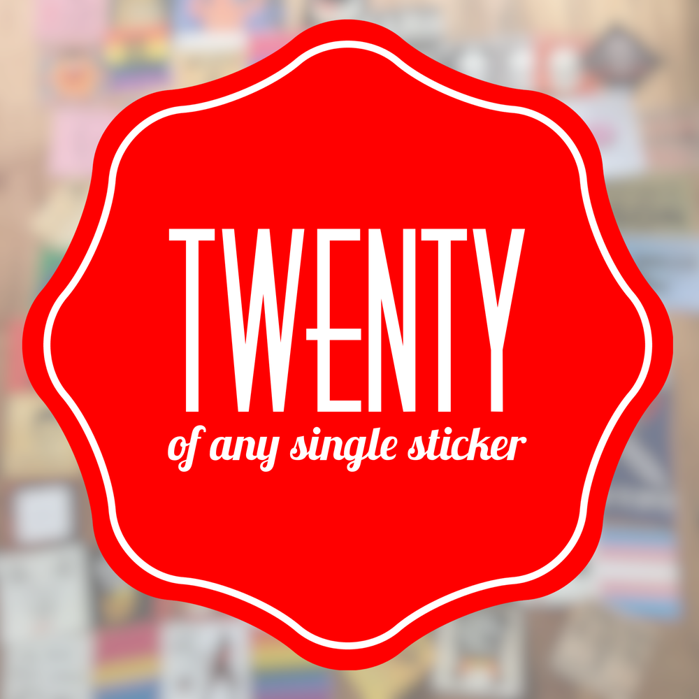 Image of TWENTY of any one sticker