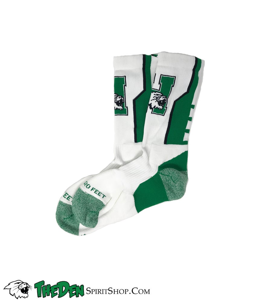 Image of Harrison Logo Socks, White