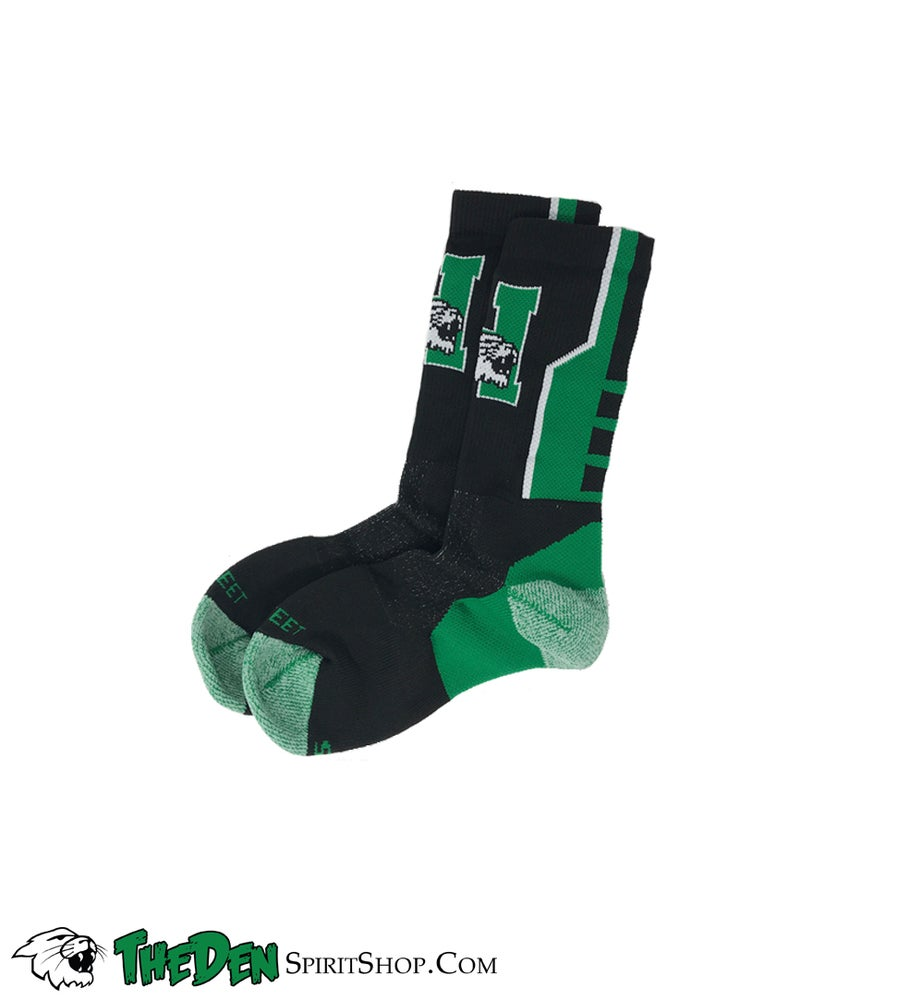 Image of Harrison Logo Socks, Black