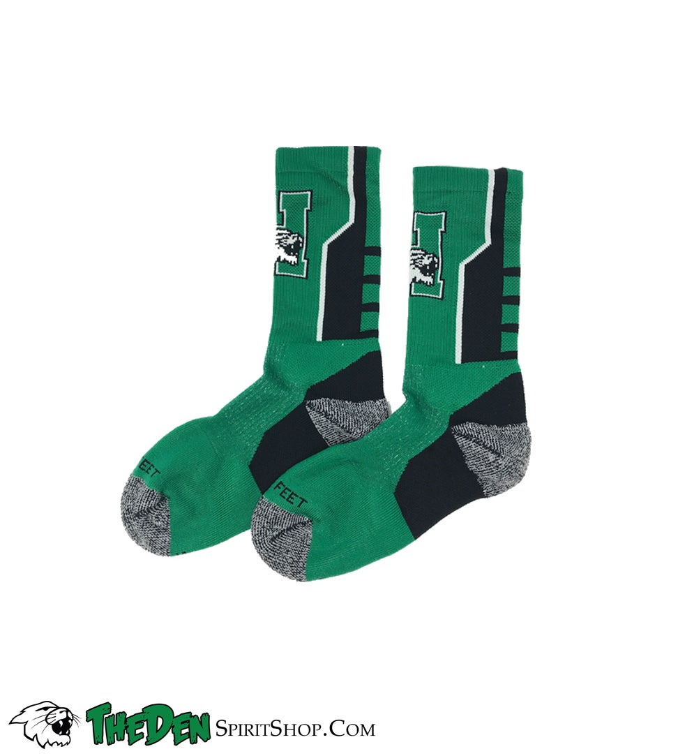 Image of Harrison Logo Socks, Green