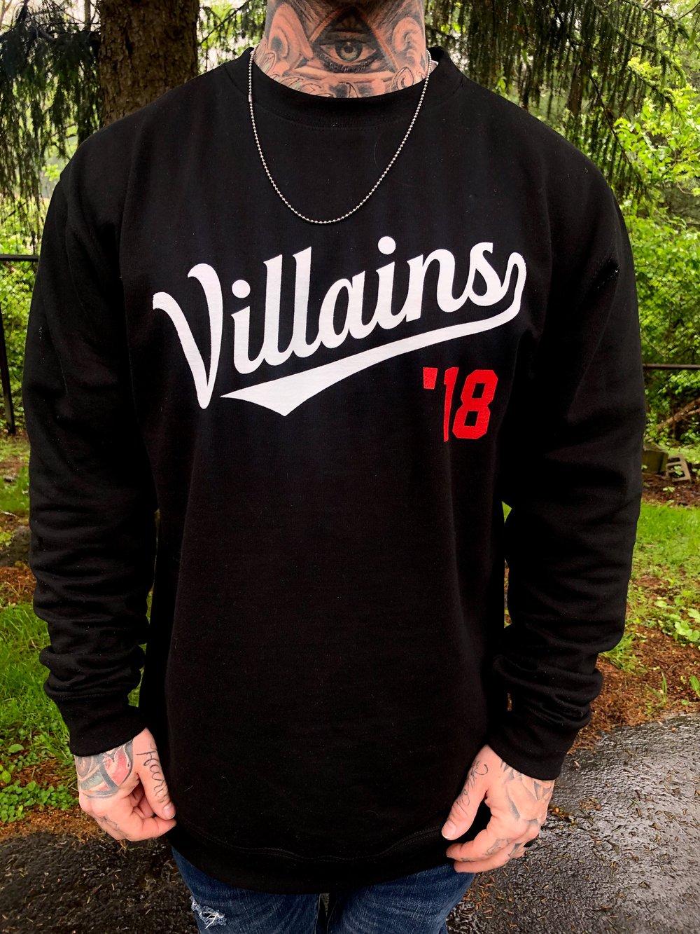 Image of Villains '18 limited edition Crewneck sweatshirt