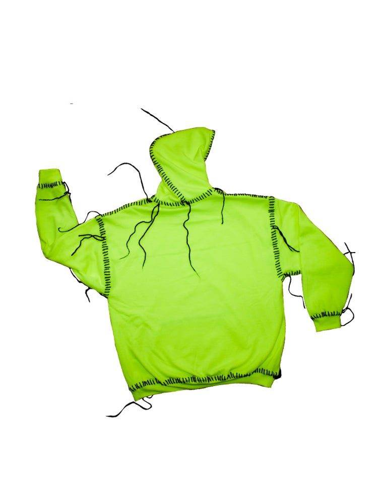 Image of DOLCEVITA SAFETY GREEN HOODIE