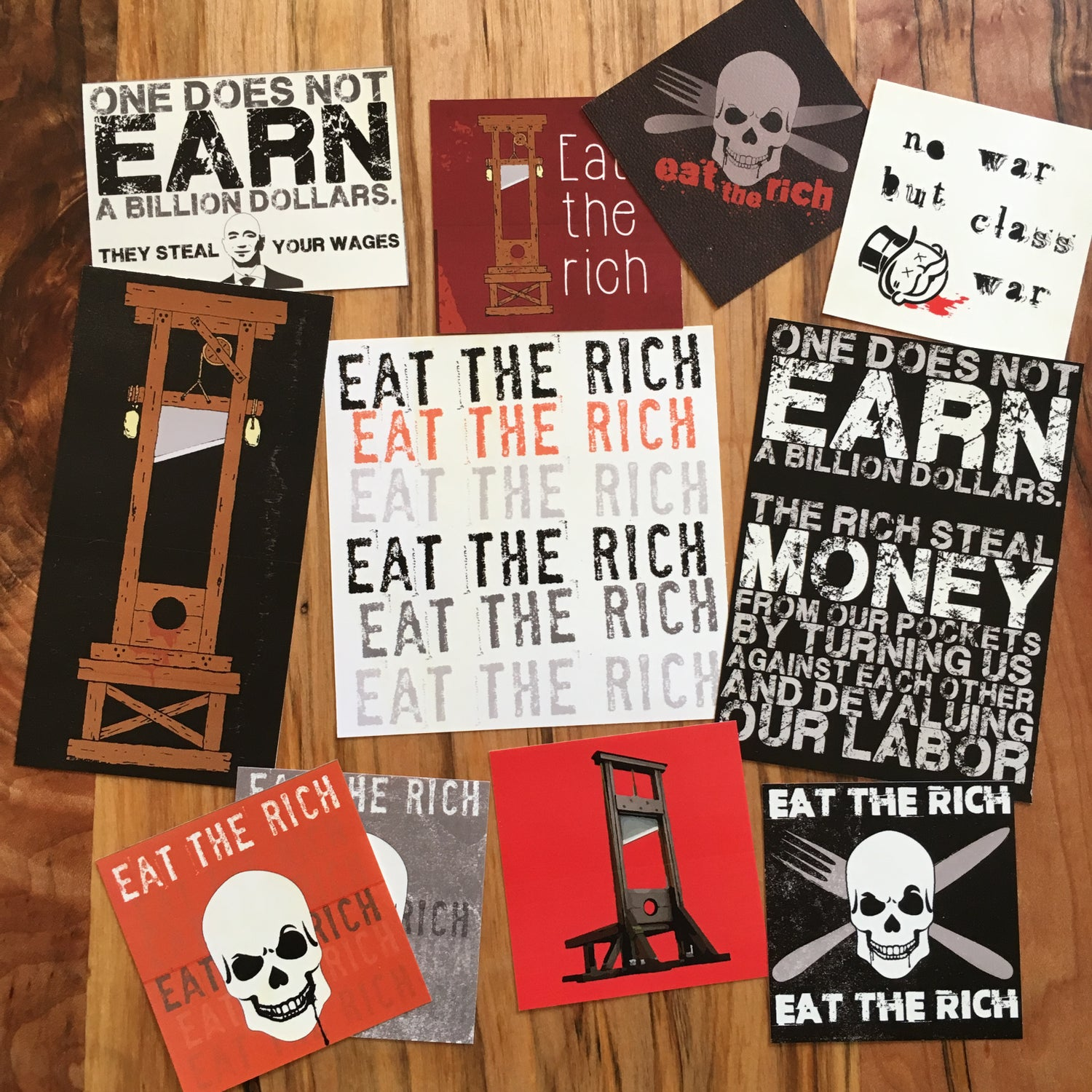 Image of Eat The Rich sticker pack