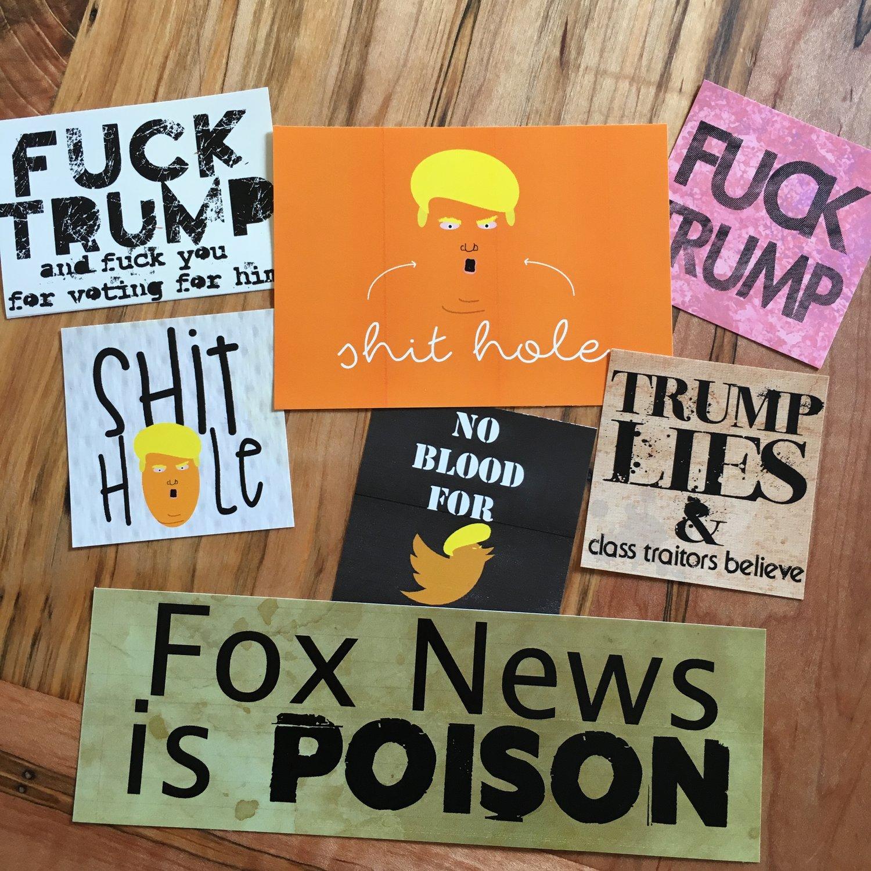 Image of Fuck Trump Sticker Pack