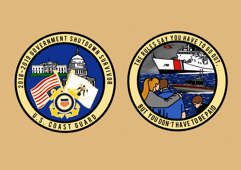 Image of Round 2 Pre-Order: 2018-2019 Government Shutdown Challenge Coin