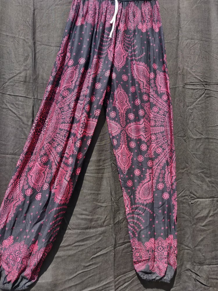 Image of Black Mandala Harem Pants