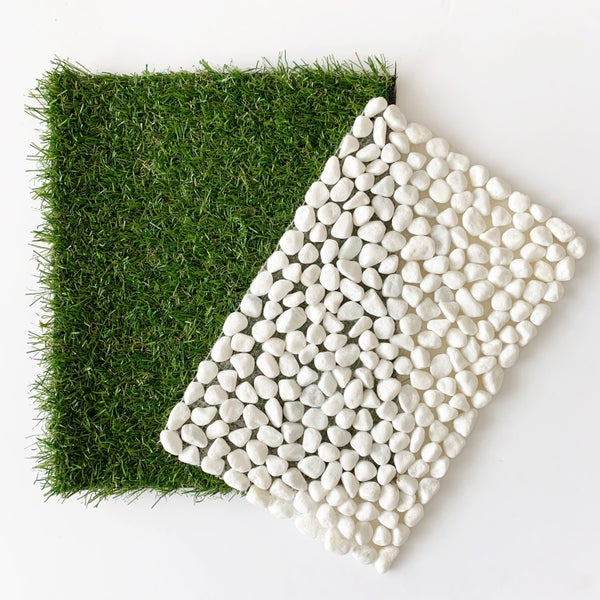 Image of Grass and White Pebble Mats