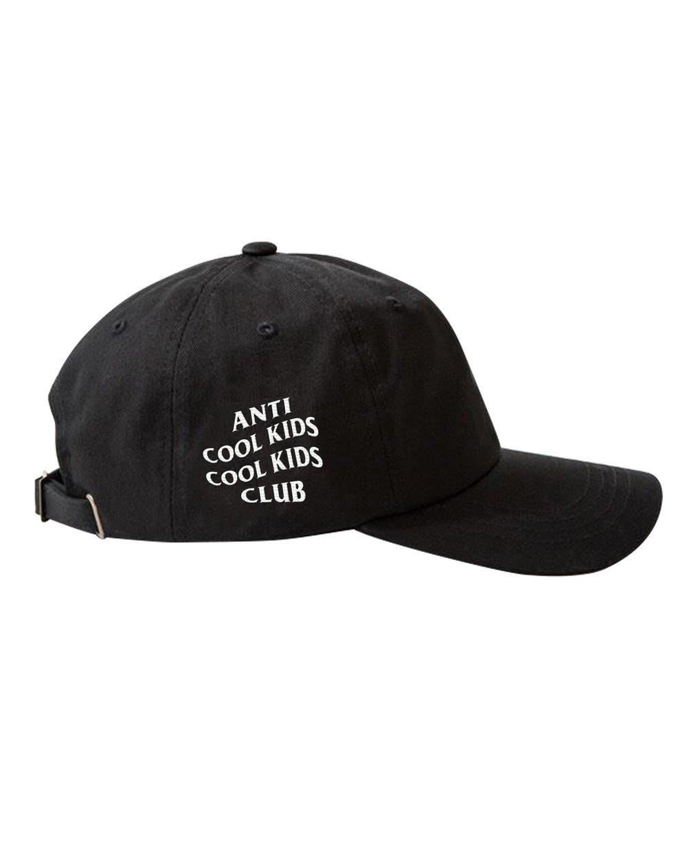 ANTI COOL KIDS DAD HAT BLACK