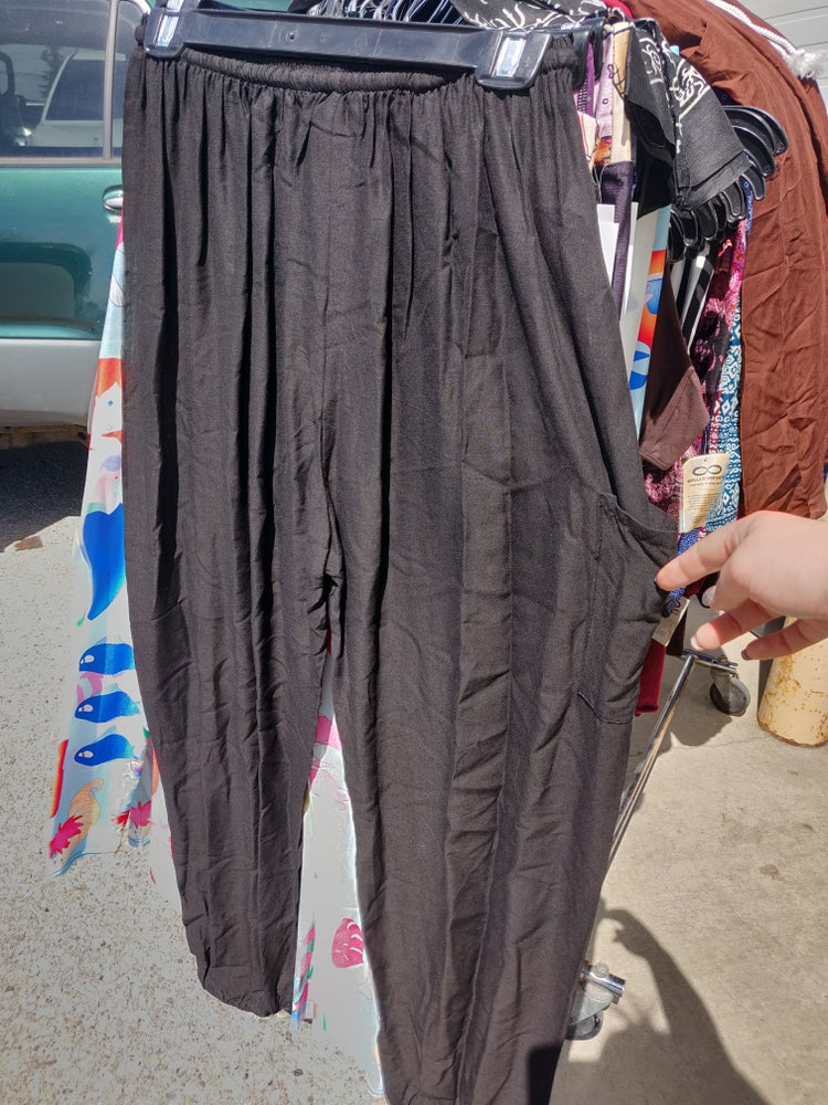 Image of Solid Drawstring Harem Pants