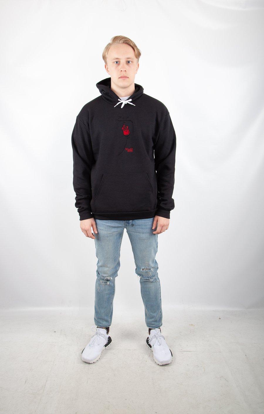 Image of black logo hoodie