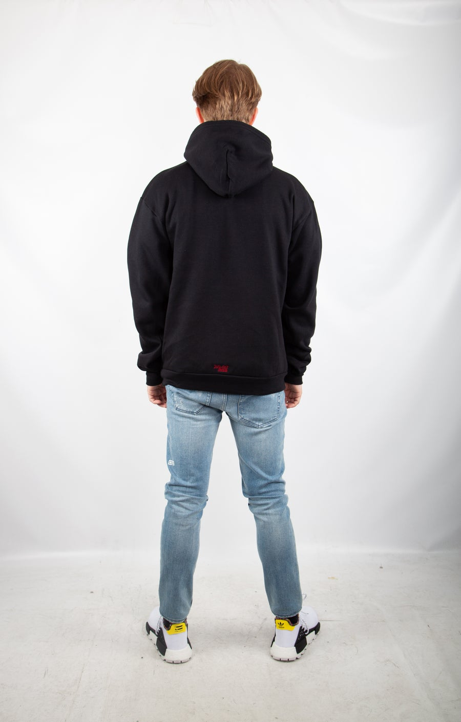 Second Image of black logo hoodie