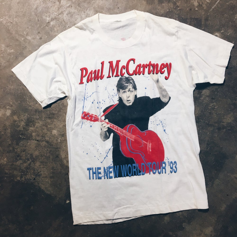 Image of Original 1993 Paul McCartney World Tour Tee.