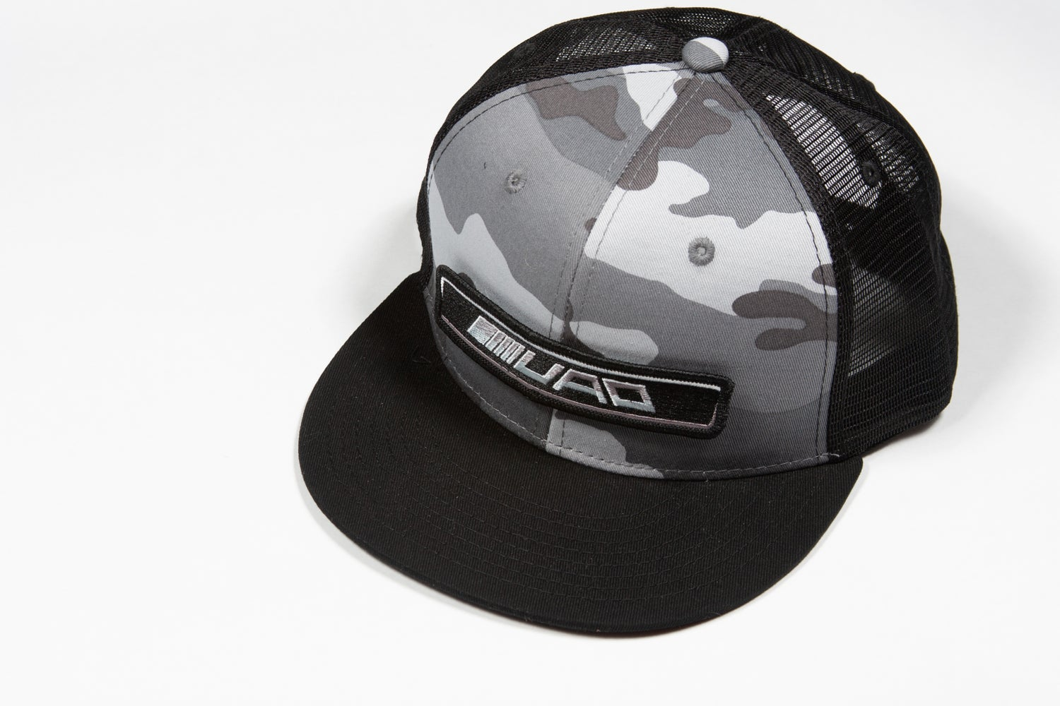 Image of UAO Clothing Co. Badge Logo Trucker Hats (Black, Gray or Snow Camo)