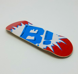 "Image of ""OVRSZD LOGO"" DECK (Candy Red)"