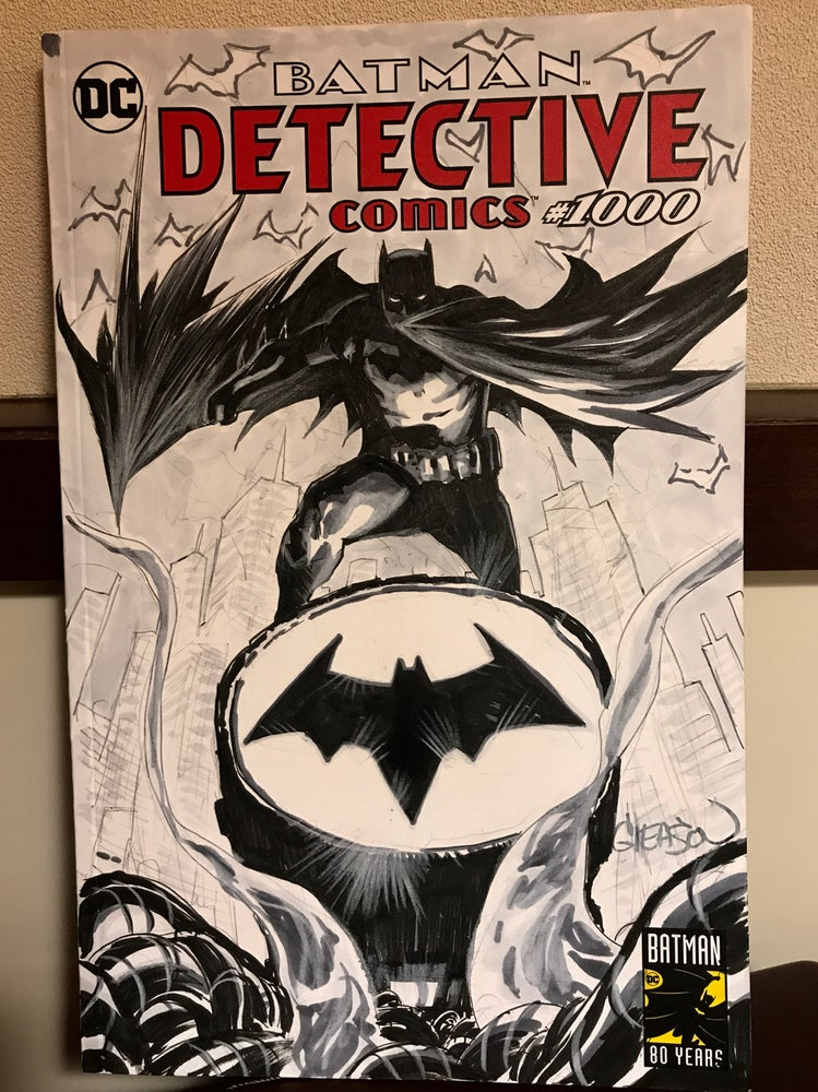 Image of Detective Comics 1000, The Batman of Gotham, Batsignal