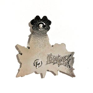 Image of Ouija Murdavision hat pin - Orange