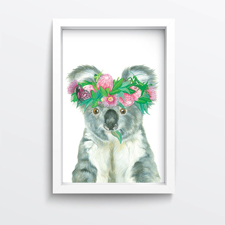 Image of Flower crown giclée print