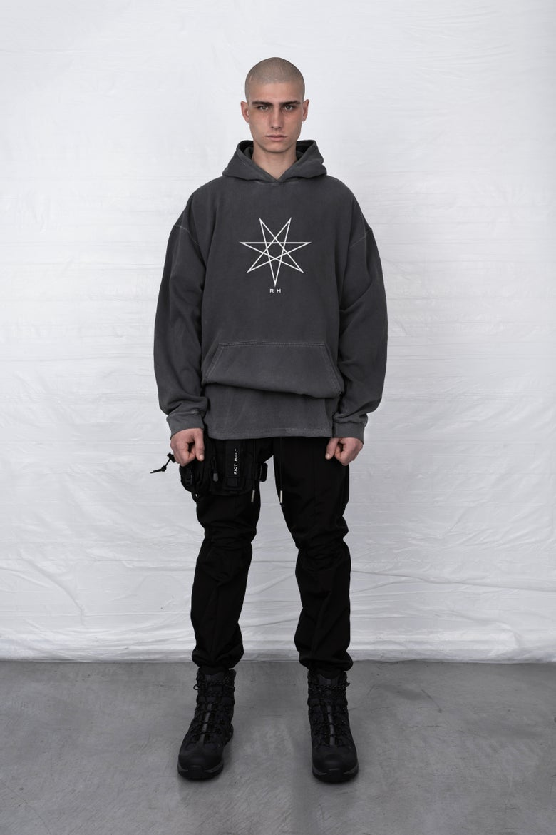 Image of VINTAGE WASH HOODED SWEATSHIRT