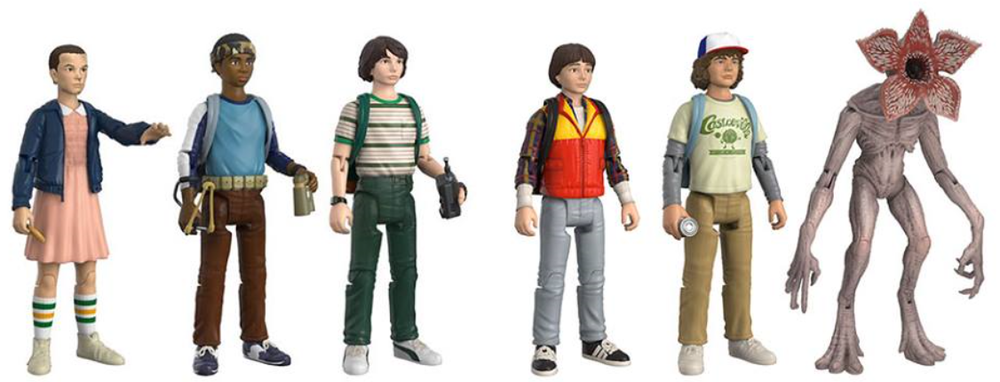 Image of Funko Reaction Stranger things Characters