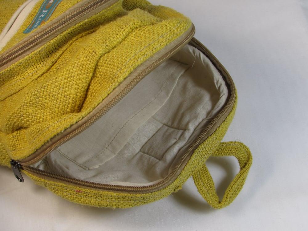 Citrine - Pure Hemp Mini Backpack | 100% Vegan | Eco Friendly | Handmade | Himalayan Hemp