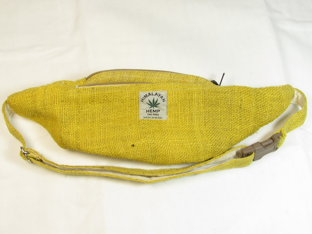Organic Hemp Bumbag - Citrine | 100% Vegan | Eco Friendly | Handmade | Money Belt | Himalayan Hemp