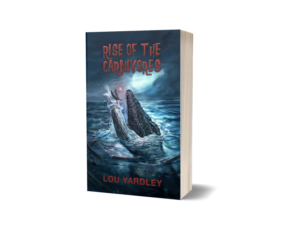 Image of Rise of The Carnivores - Lou Yardley with LTD Ed signed Book Mark