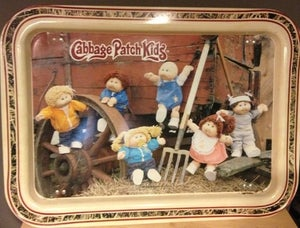 Image of VINTAGE Cabbage Patch Kids Lap Tray Portrait