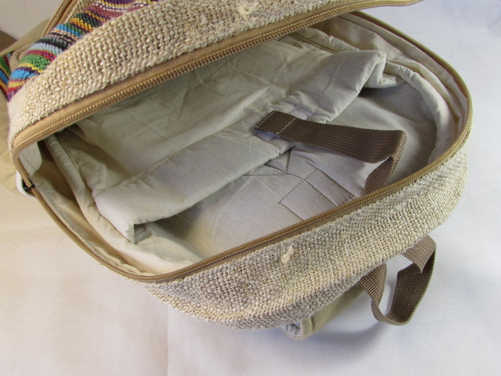 Rainbow - Hemp Backpack | 100% Vegan | Eco Friendly | Handmade | Himalayan Hemp