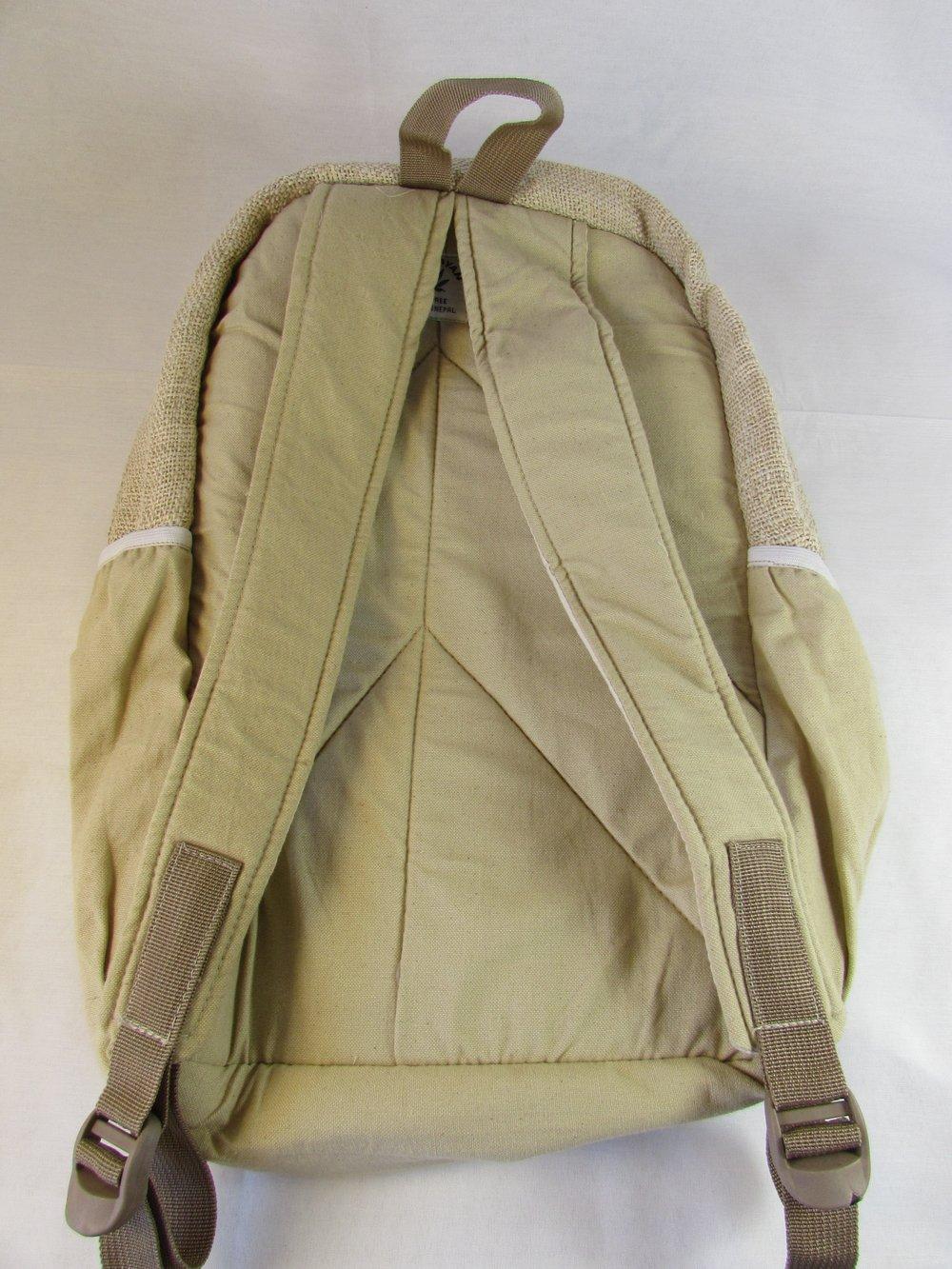 Rainbow - Hemp Backpack   100% Vegan   Eco Friendly   Handmade   Himalayan Hemp