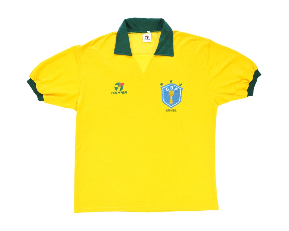 Image of 1989-91 Topper Brazil Home Shirt XL