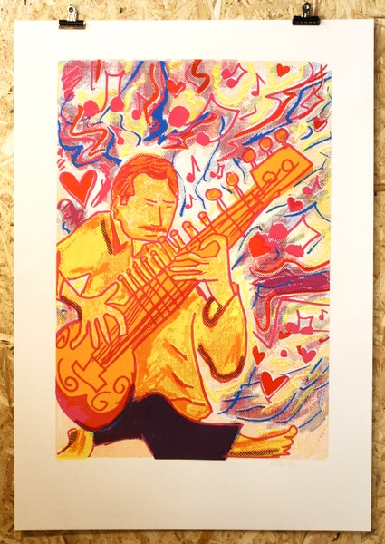 Image of Psychedelic Sitarist